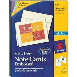 Avery 8317 Embossed 60 Note Cards & 60 Envelopes